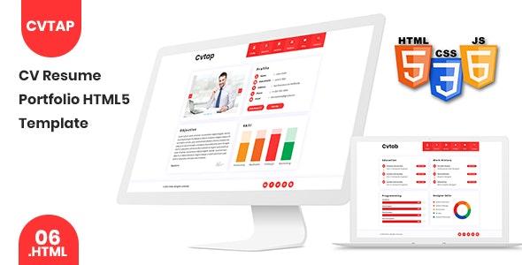 Cvtap - CV Resume Portfolio HTML5 Template - Specialty Pages Site Templates