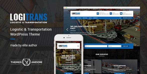 Logistic WordPress Theme - LogiTrans - Business Corporate