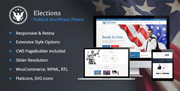 Elections - Political WordPress theme - Political Nonprofit