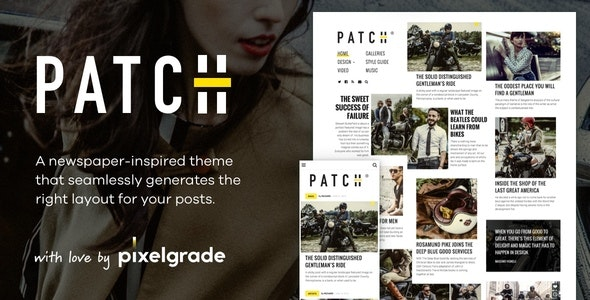 Patch - Unconventional Newspaper-Like Blog Theme - News / Editorial Blog / Magazine