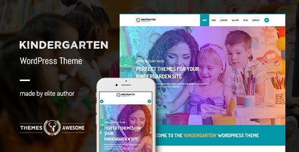 Kindergarten WordPress Theme for Children School - Education WordPress