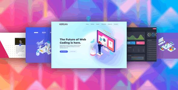 Kergan - Digital Startup HTML Templates - Corporate Site Templates