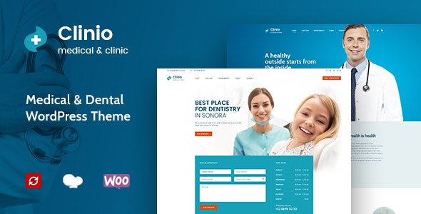 Clinio - Medical & Dental WordPress Theme - Health & Beauty Retail