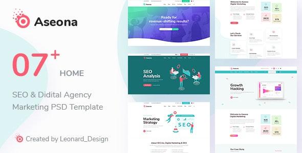 Aseona | SEO Digital Marketing Template PSD - Corporate PSD Templates