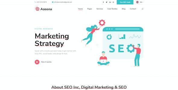 Aseona | SEO Digital Marketing Template PSD