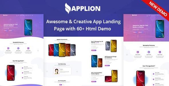 Applion - App Landing Page - Technology Site Templates
