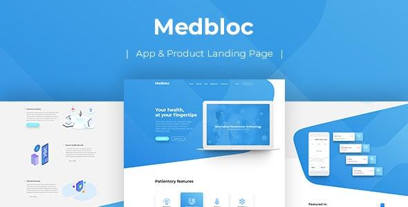 Medbloc - HTML Landing Page - Health & Beauty Retail