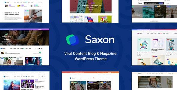 Saxon - Viral Content Blog & Magazine Marketing WordPress Blog Magazine Theme - News / Editorial Blog / Magazine