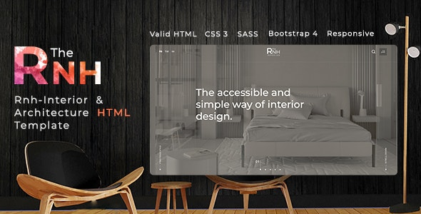 TheRNH - Interior and Architecture HTML Template - Business Corporate