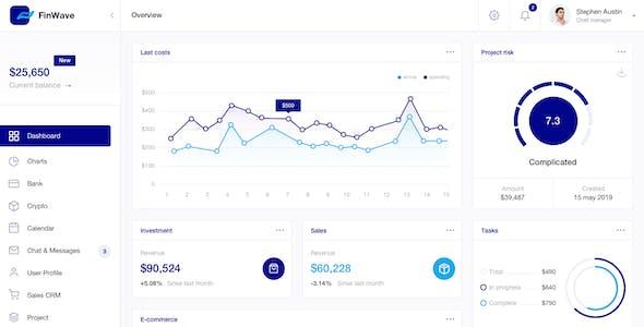 FinWave — Finance dashboard UI Kit