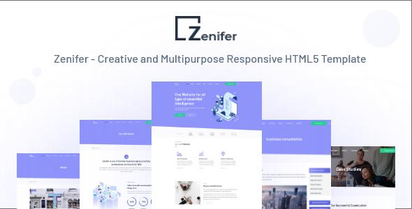 Zenifer - Creative and Multipurpose Responsive HTML5 Template - Portfolio Creative