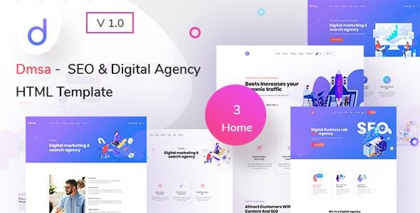 Dmsa - SEO & Digital Agency HTML Template