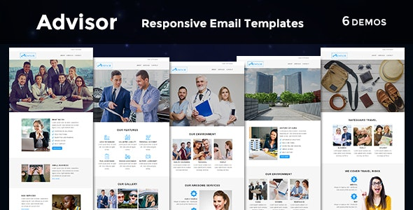 Advisor - Responsive Email Template - Newsletters Email Templates