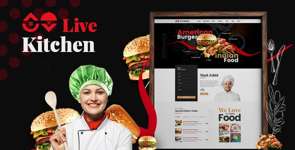 Livekitchen | Restaurant Cafe WordPress Theme - Restaurants & Cafes Entertainment