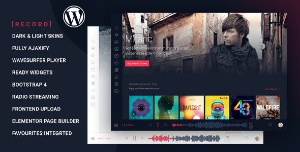 Rekord - Ajaxify Music - Events - Podcasts Multipurpose WordPress Theme - Music and Bands Entertainment