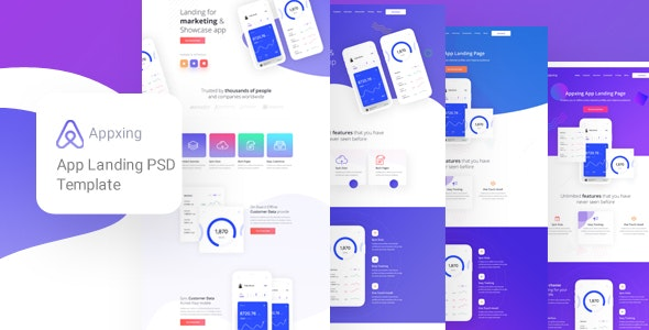 Appxing - App Landing PSD Template - Business Corporate
