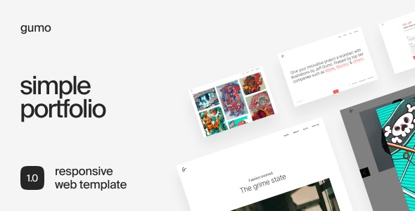 Gumo – Simple Portfolio Template - Portfolio Creative