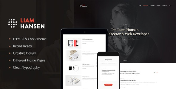 Liam Hansen - Creative Freelancers & Agency WordPress Theme - Portfolio Creative