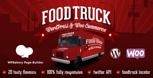 Food Truck & Restaurant 20 Styles - WP Theme - Restaurants & Cafes Entertainment