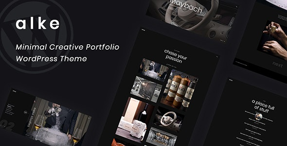 Alke - Minimal Creative Portfolio WordPress Theme - Creative WordPress