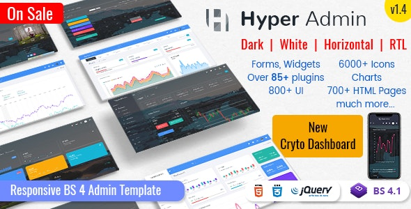 Hyper - Responsive Admin Dashboard Template - Admin Templates Site Templates