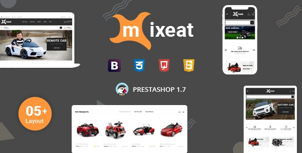 Mixeat - Ecars & Escooter Prestashop 1.7 Responsive Theme - Entertainment PrestaShop
