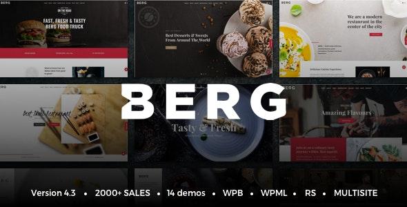 BERG - Restaurant WordPress Theme - Restaurants & Cafes Entertainment