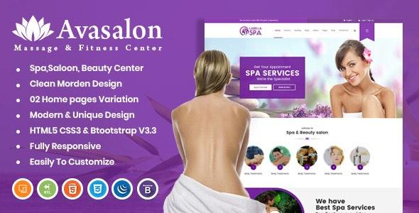 Avasalon HTML Template - Health & Beauty Retail