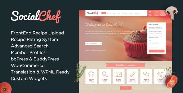 Download SocialChef - Social Recipe WordPress Theme
