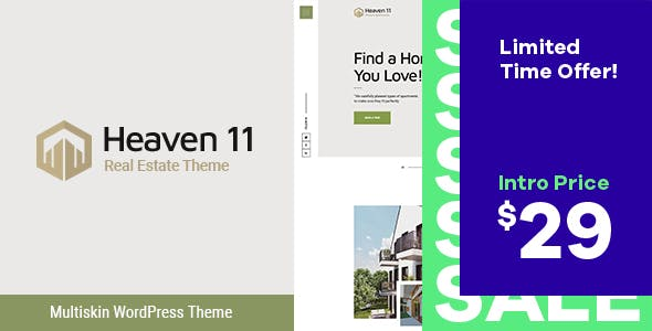 Heaven11 | Property & Apartment Real Estate WordPress Theme nulled theme download