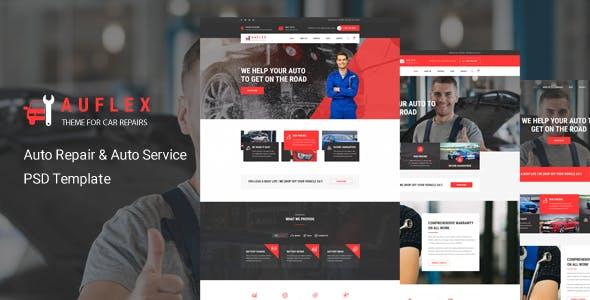 Auflex - Car Repairing & Servicing PSD Template