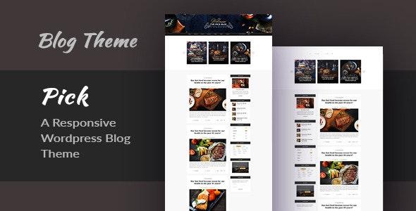 Pick - A Responsive WordPress Blog Theme - Personal Blog / Magazine