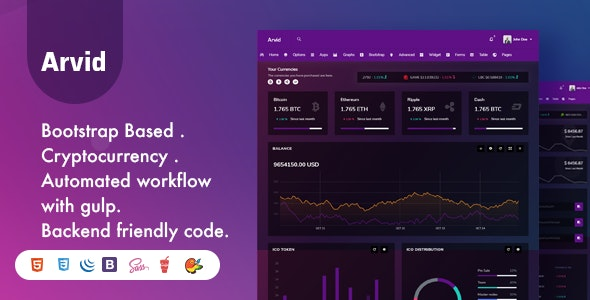 Arvid - Bootstrap Cryptocurrency Admin Dashboard Template - Admin Templates Site Templates