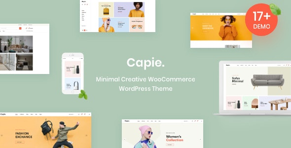 Capie - Minimal Creative WooCommerce WordPress Theme by