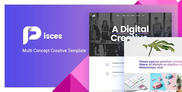 Pisces - Multi Concept Creative Bootstrap 4 Template - Creative Site Templates