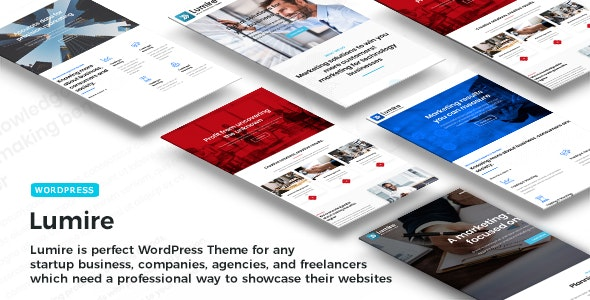 Lumire - Responsive Business WordPress Theme - Business Corporate