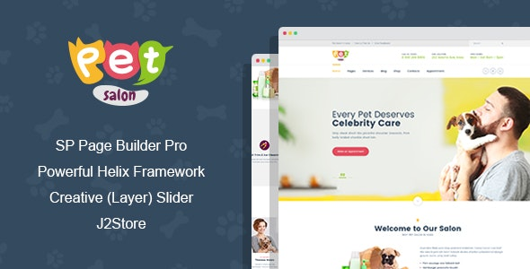 Pet Salon - Pet Grooming Joomla Template With Page Builder - Business Corporate