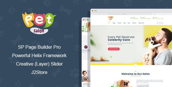 Pet Salon - Pet Grooming Joomla Template With Page Builder