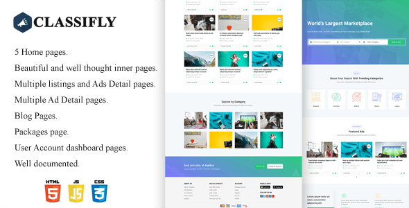 Classifly - Classified Ads HTML Template - Business Corporate