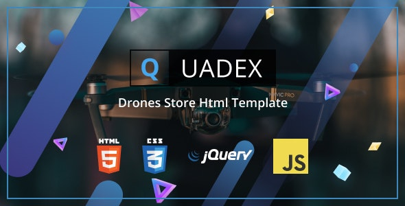 Quadex - Drones Store Html Template - Electronics Technology