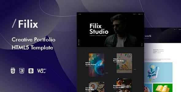 Filix - Creative Portfolio HTML5 Template - Portfolio Creative