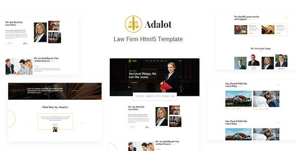 Adalot | Multipurpose Lawyer & Attorney Consulting Firm HTML5 Template - Business Corporate