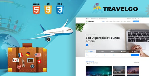 TravelGo - Travel, Tour Booking HTML5 Template