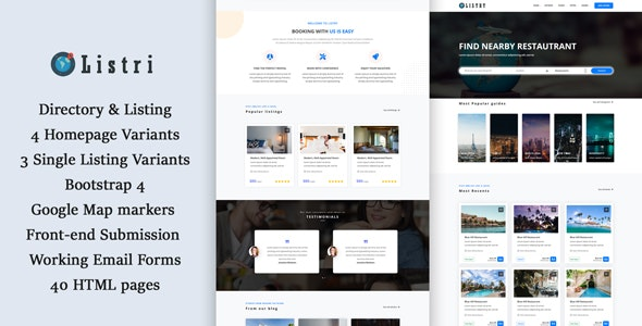 listry - Directory & Listing HTML Template - Business Corporate