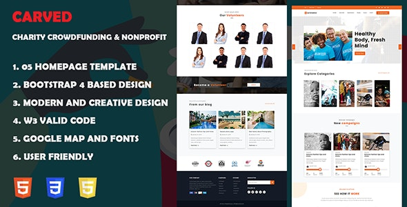 Getfund - Nonprofit, Crowdfunding & Charity HTML5 Template - Charity Nonprofit