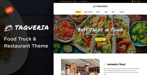 Taqueria - Food Truck & Restaurant Theme - Restaurants & Cafes Entertainment