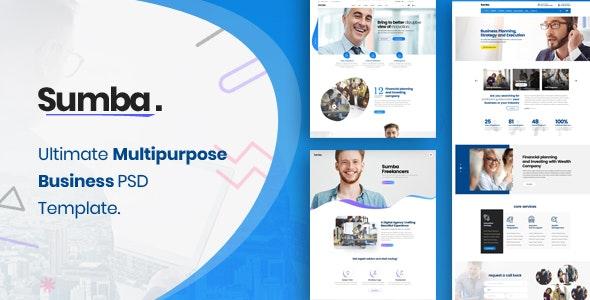 Sumba Business Multi Purpose PSD Template - Business Corporate