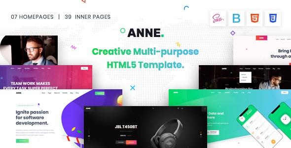 Anne - Multipurpose HTML5 Template - Creative Site Templates