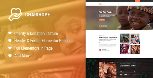 Charihope - Charity and Donation WordPress Theme - Charity Nonprofit