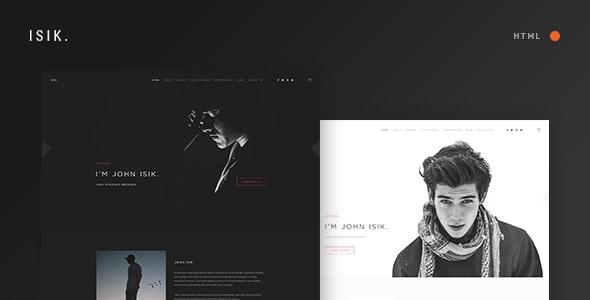 ISIK. — Responsive Personal Portfolio HTML5 Template - Creative Site Templates